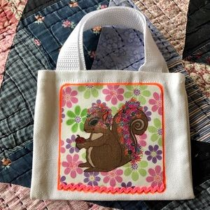 Handbags - Adorable Squirrel orig Art Drawing Mini Tote Bag
